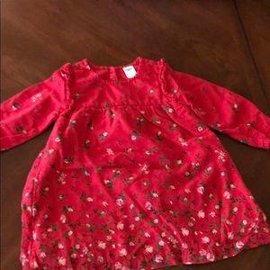 Old navy 12-18 red floral dress